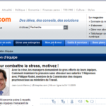 Le stress abordé dans la newsletter de «L'Entreprise»