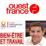 Conférence de Michel Cymes «bien-être et travail» abordée dans Ouest France