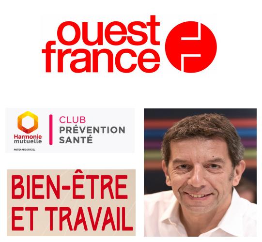 """Conférence de Michel Cymes """"bien-être et travail"""" abordée dans Ouest France"""