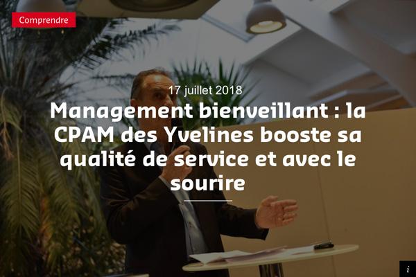 Le management bienveillant appliqué à la CPAM des Yvelines