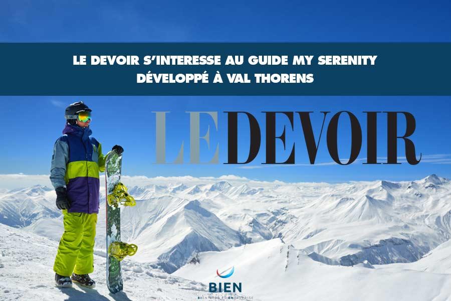 Le guide My Serenity fait parler de lui au Canada !